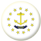 Rhode Island State Flag 25mm Flat Back